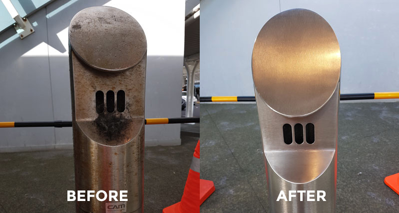 Canny Case Studies Stainless Steel Before and After